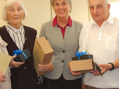 Jörg Heimler, Inge Schwankl, Oberbürgermeisterin Brigitte Merk-Erbe, Ewald Hahnefeld und Klaus Pietruska (von links).