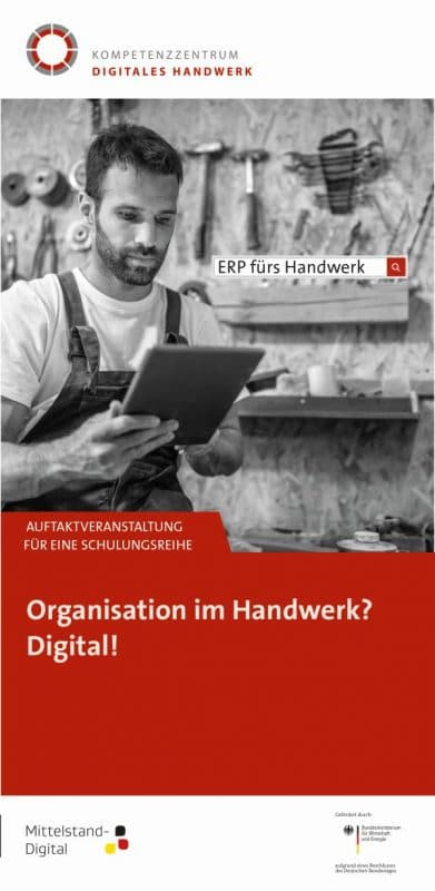 Flyer ERP fürs Handwerk