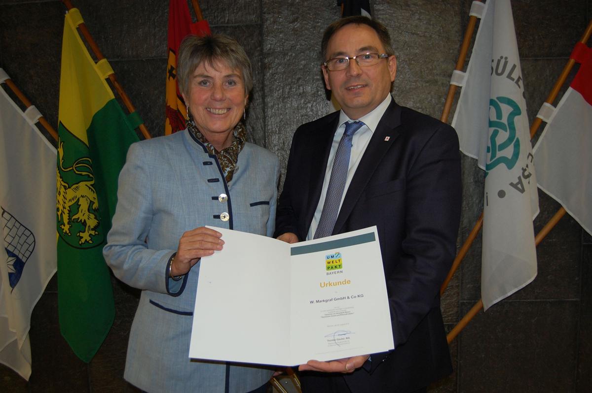 Oberbürgermeisterin Brigitte Merk-Erbe und Markgraf-Geschäftsführer Liborius Gräßmann.