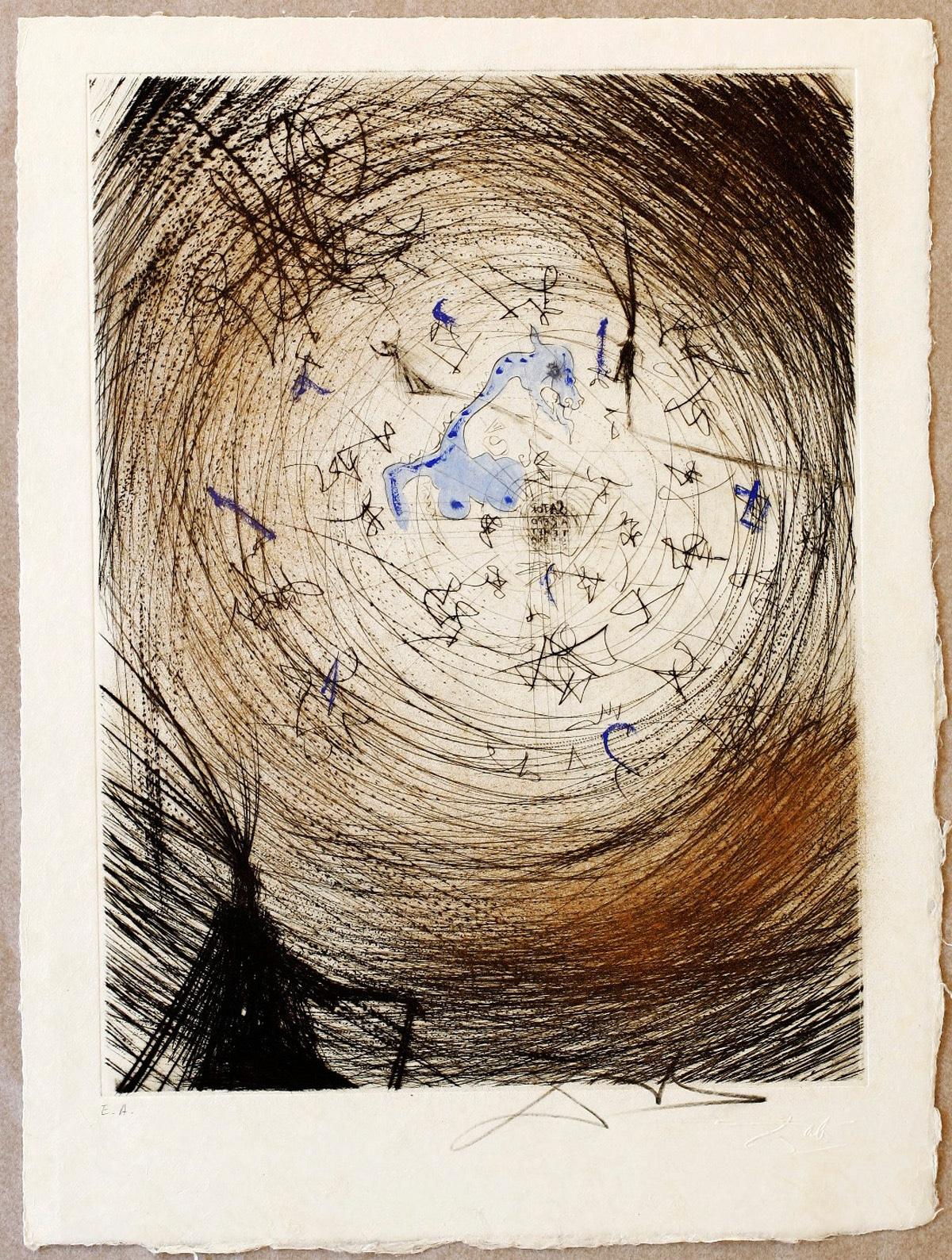 Saövador Dalí Faust-Sator aus der Walpurgisnacht 1968-69 Farbradierung; Sammlung Hertha Drescher und Günter Ruckdäschel. | Foto: Kunstmuseum Bayreuth