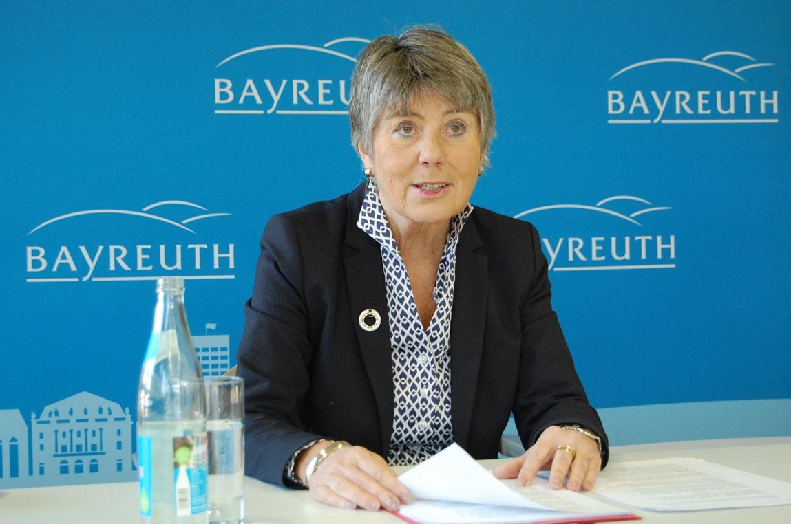 Oberbürgermeisterin Brigitte Merk-Erbe beim Jahres-Pressegespräch im Rathaus.