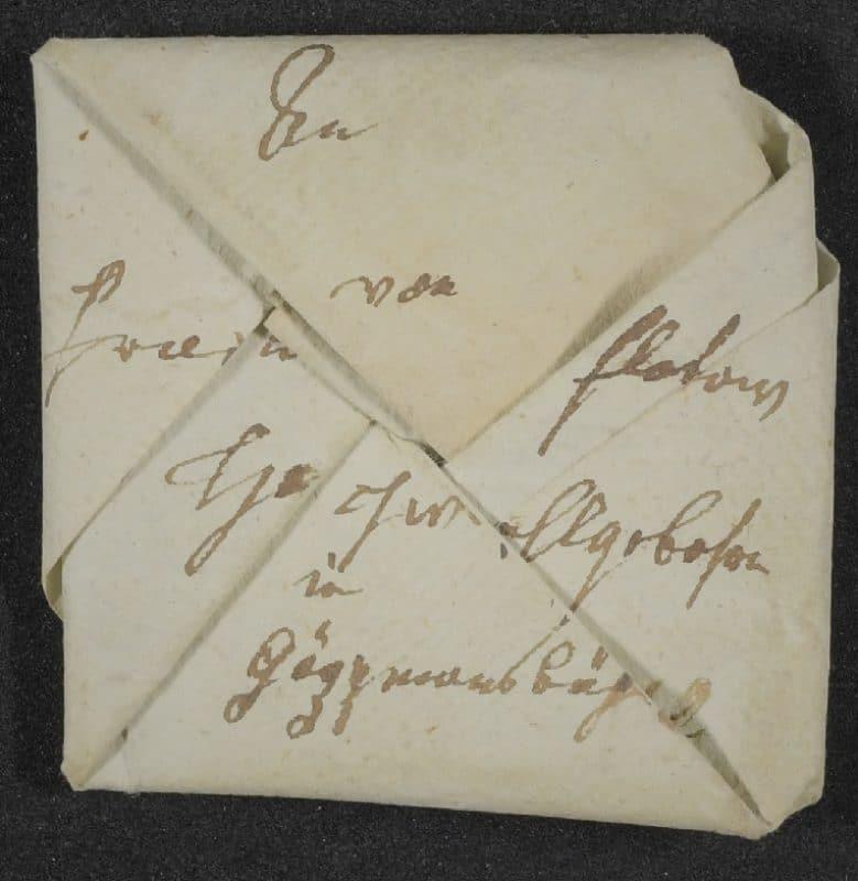 Kleingefaltener Brief