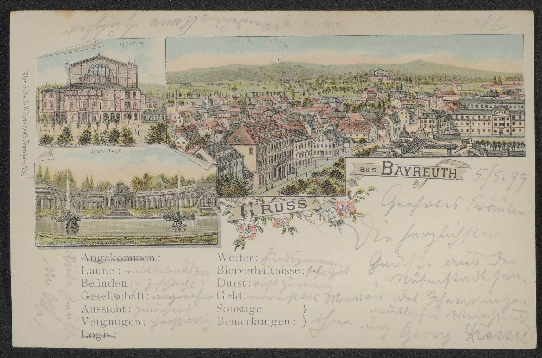 Ansichtskarte aus Bayreuth