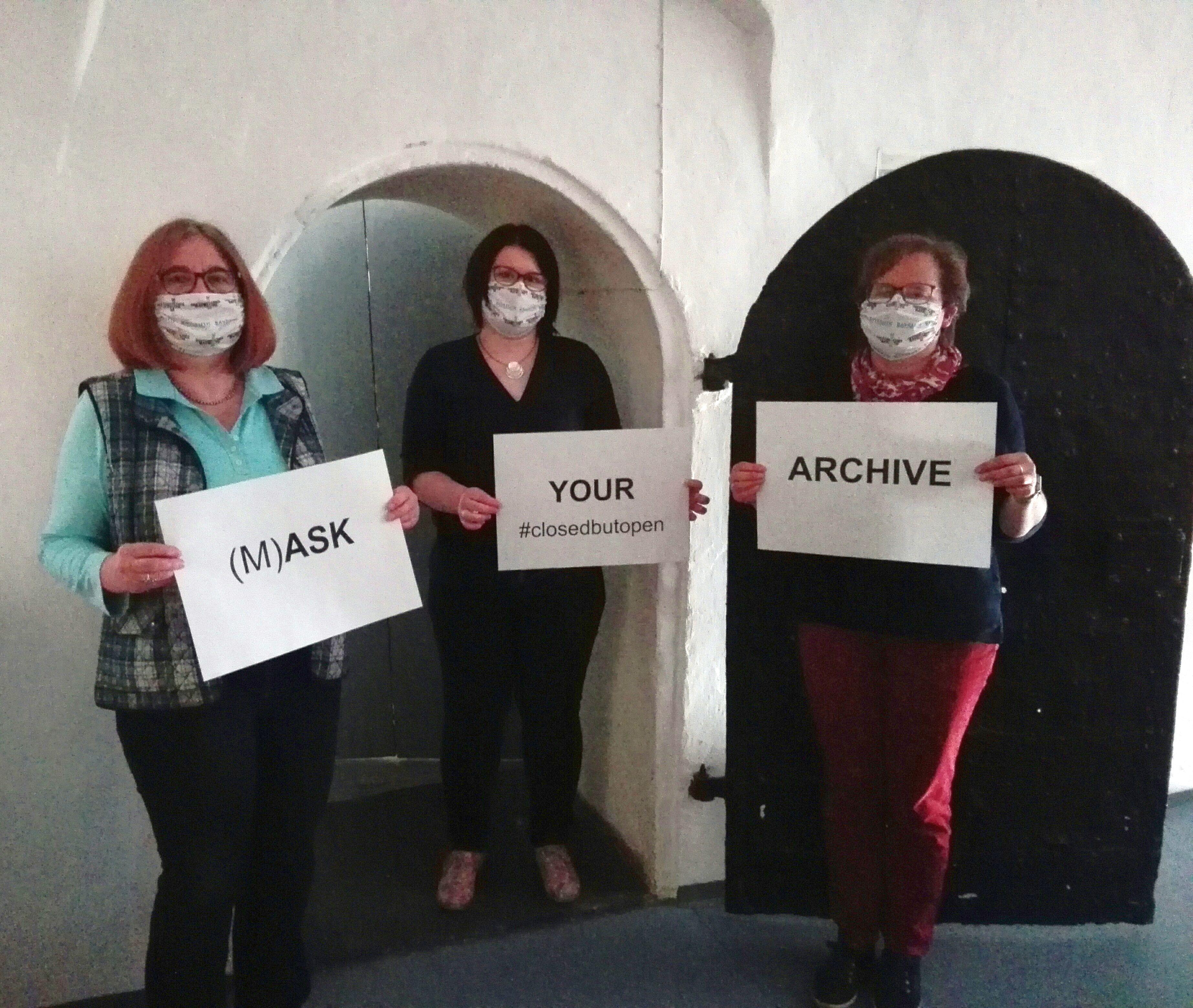 #closedbutopen (M)ASK YOUR ARCHIVE (Mitarbeiterinnen des Stadtarchivs Bayreuth)