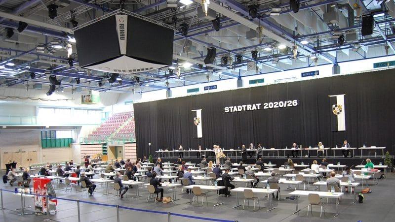 Blick auf das Plenum in der Oberfrankenhalle