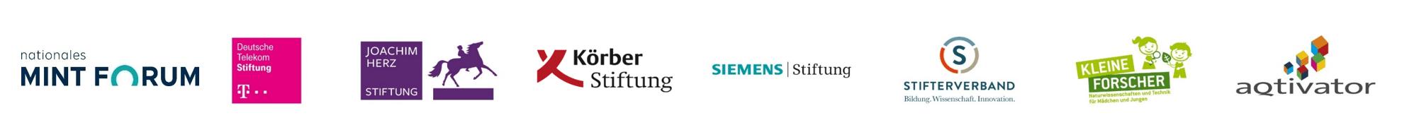 Banner mit der Förderern der MINT Qualitätsoffensive