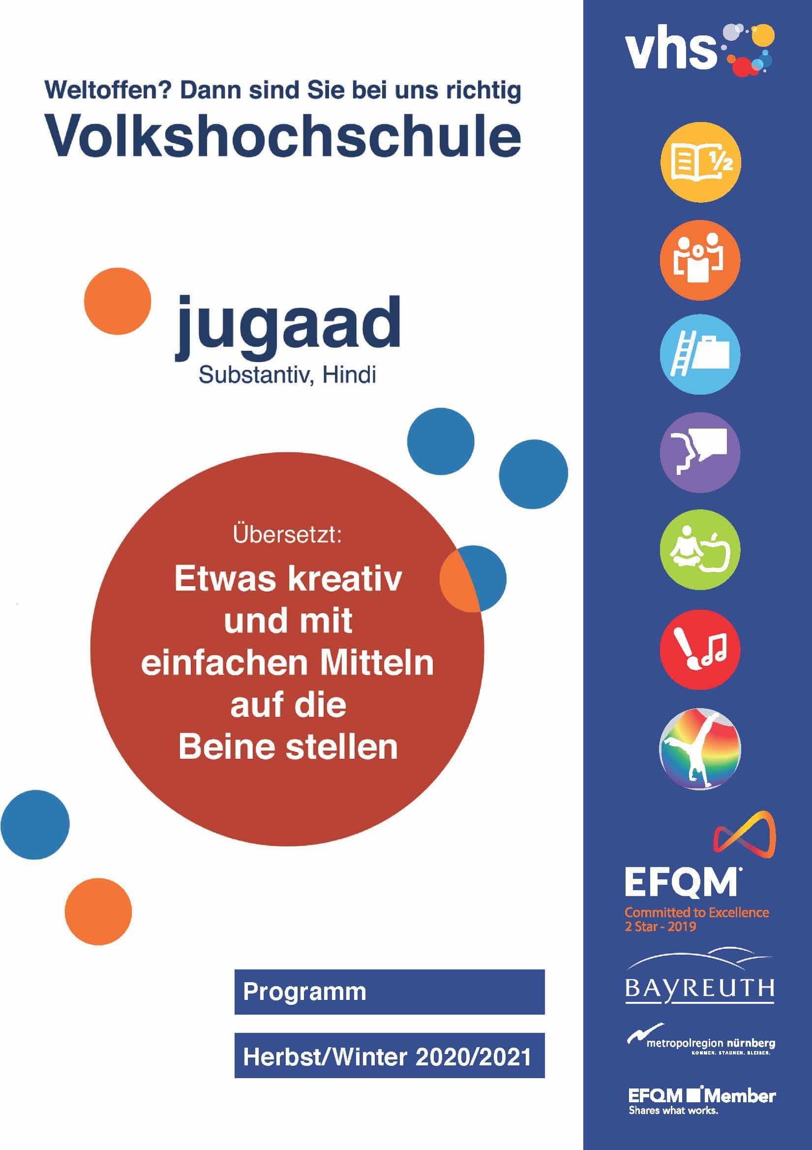 Cover des neuen vhs-Programmheftes