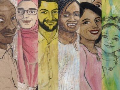 Portraits von mehreren Menschen