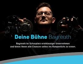 """Klicken Sie hier um zum Standortmarketing """"Bayreuth. Bühne für Wirtschaft"""" zu gelangen."""