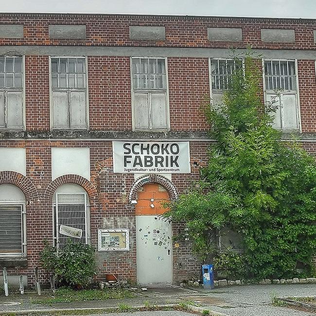 Außenansicht der Schokofabrik