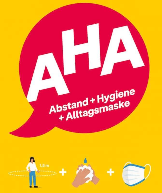 Die AHA-Regel bildlich erklärt