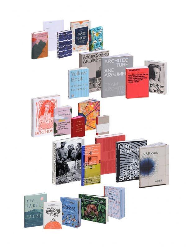 Eine zusammenstellung von Büchern.