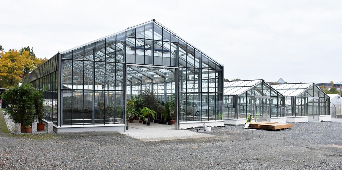 Die neuen Gewächshäuser des Stadtgartenamtes.