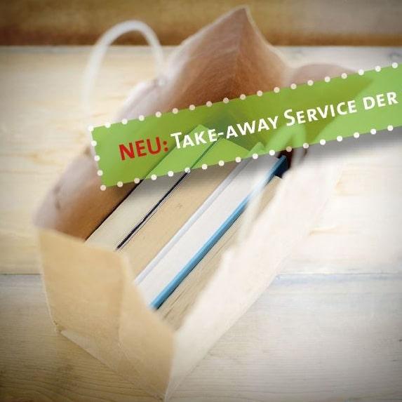 Geöffnete Büchertüte