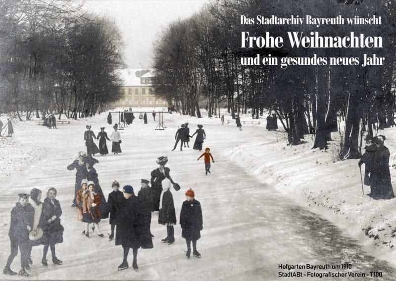 Schlittschuhlaufen im Hofgarten ca. 1910