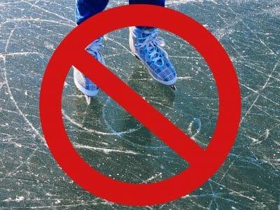 Schlittschuhläufer auf Eis