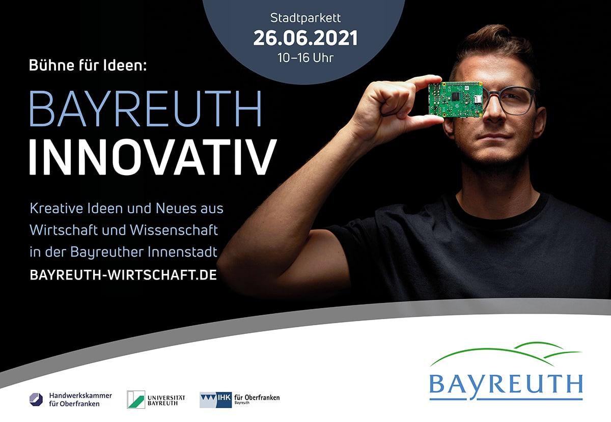 Plakat für die Aktion Bayreuth innovativ