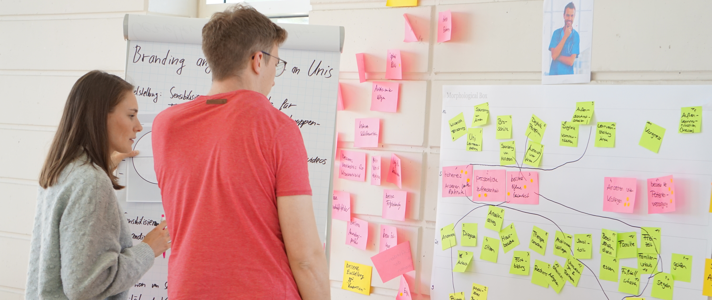 Arbeitssituation bei der Ideation Week