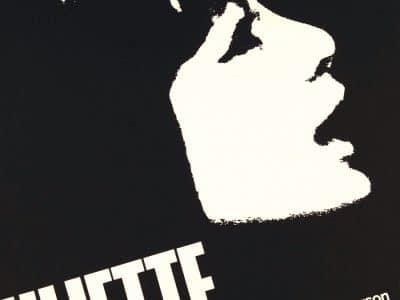 Plakat mit Konterfei von Juliette Greco