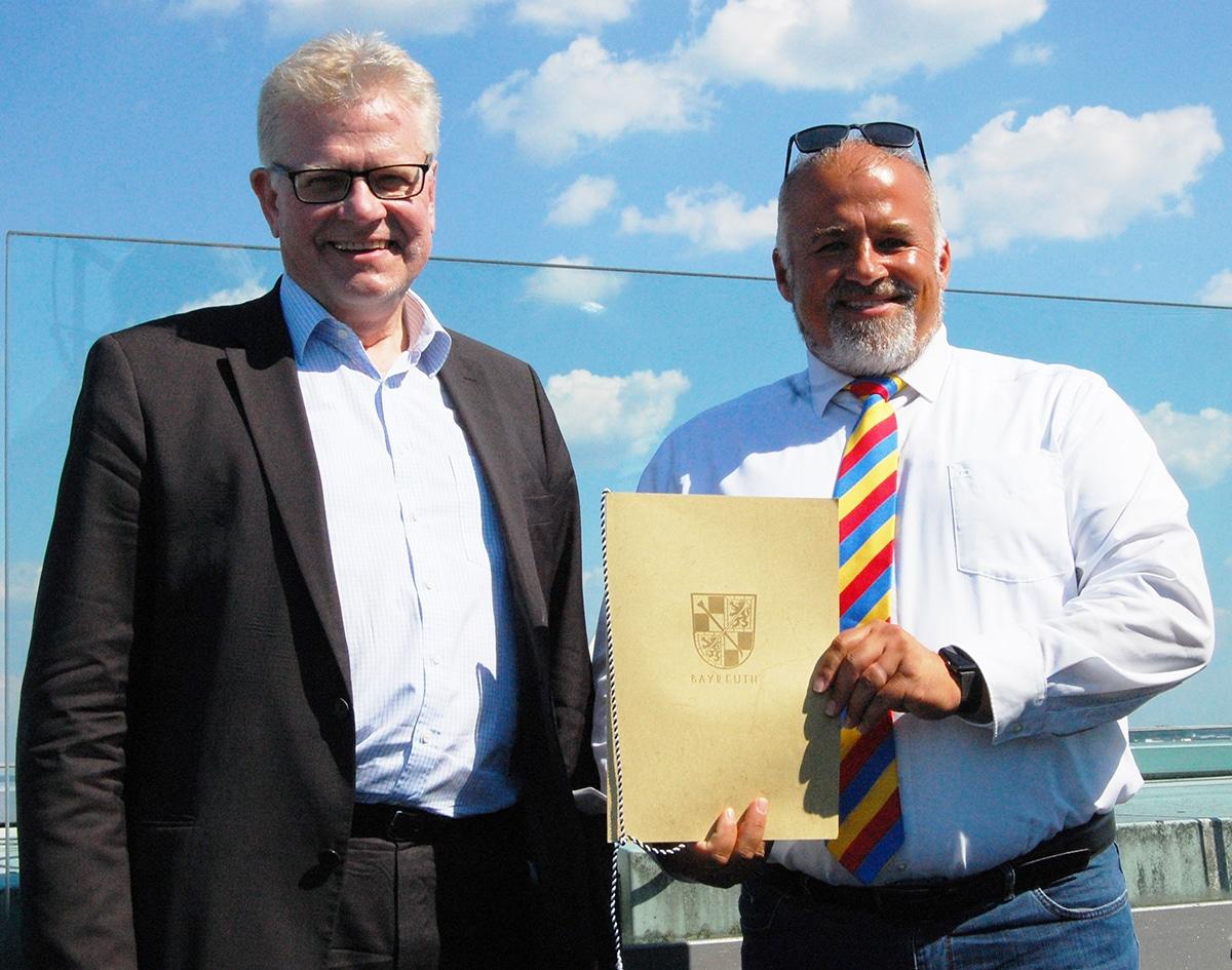 OB Ebersberger mit Vizepräsident Zitzmann-Schreiner