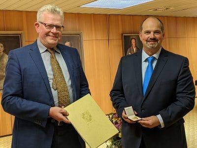 OB Ebersberger mit Stadtrat Grieshammer