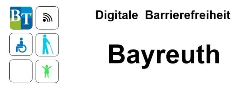 Logo der Präsentation mit Schriftzug: Digitale Barrierefreiheit Bayreuth