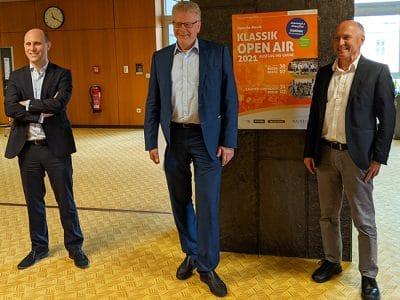 Benedikt M. Stegmayer, OB Thomas Ebersberger, Stephan Kunz