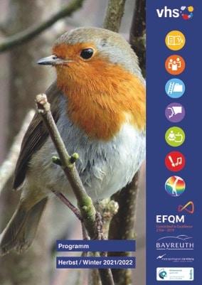 Cover des Programmhefts zeigt einen kleinen Vogel auf einem Zweig.