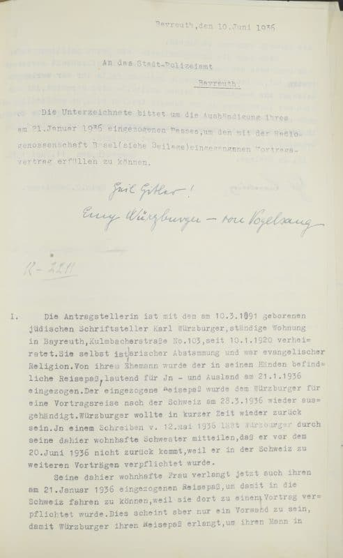 StadtABT, Nr. 20380: Passantrag Emy Würzburgers