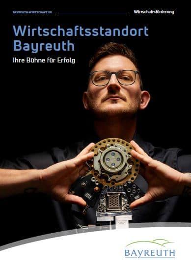 """Titel der Broschüre """"Wirtschaftsstandort Bayreuth"""""""