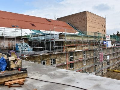 Blick auf die Baustelle Friedrichsforum
